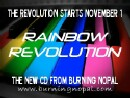 "Burning Nopal's new CD ""Rainbow Revolution"" Coming November 1st! and website link."