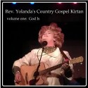 """Rev. Yolanda's Country Gospel Kirtan"" CD cover and website link."